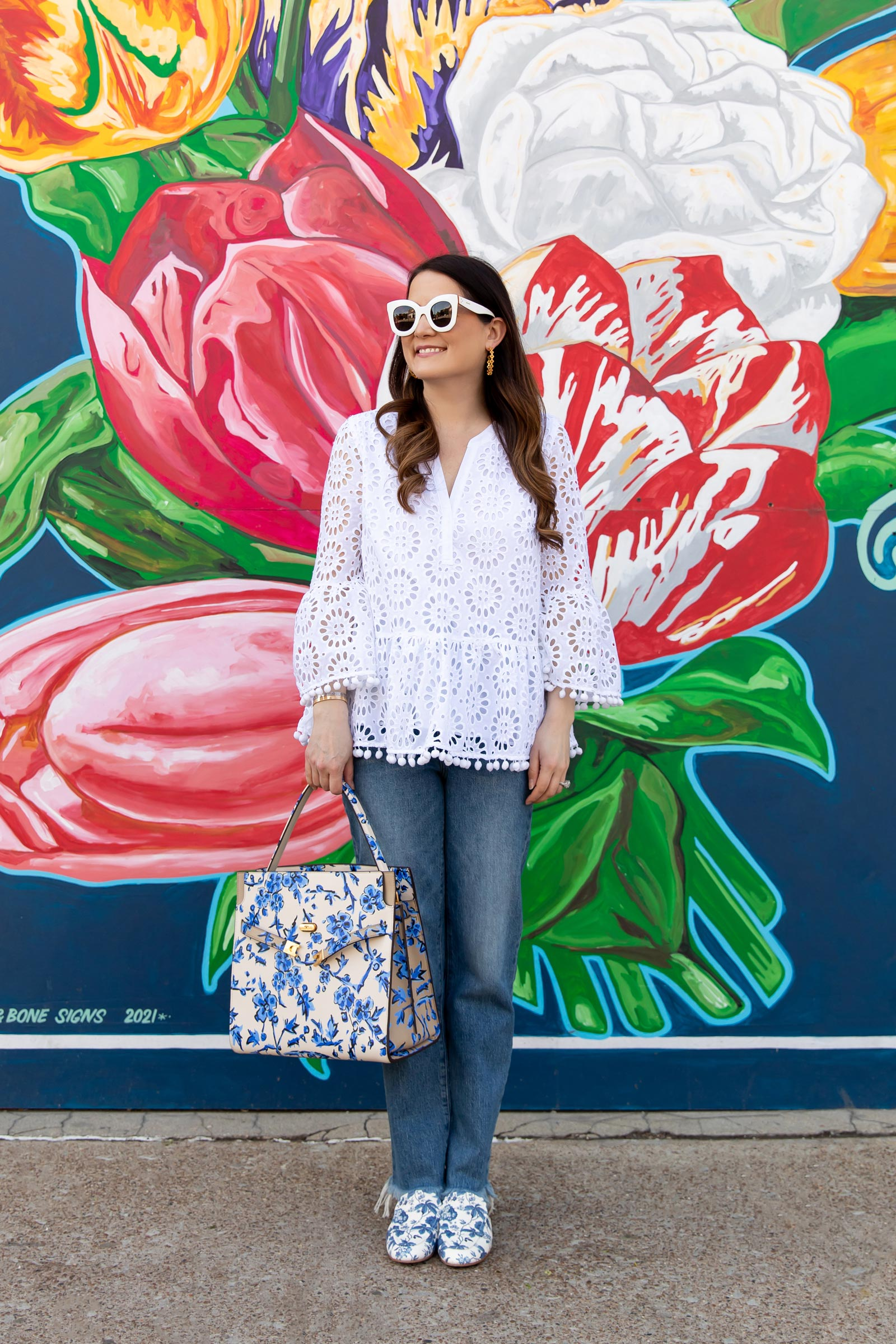 Lilly Pulitzer White Eyelet Top