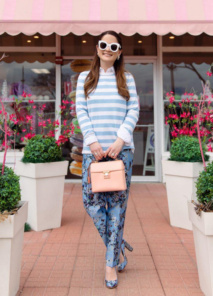 Sail to Sable Blue Stripe Gwen Sweater