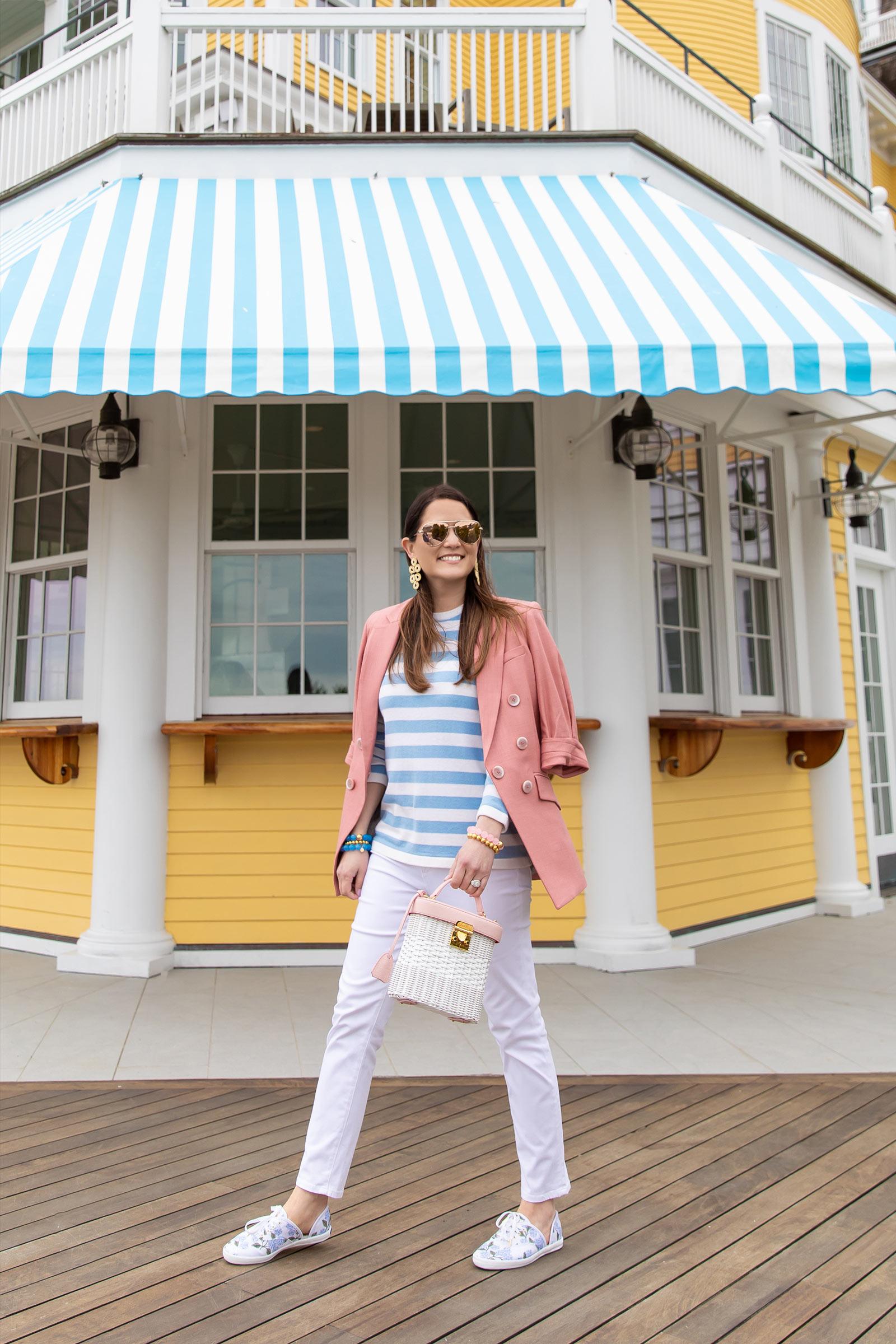 Sail to Sable Blue Stripe Sweater