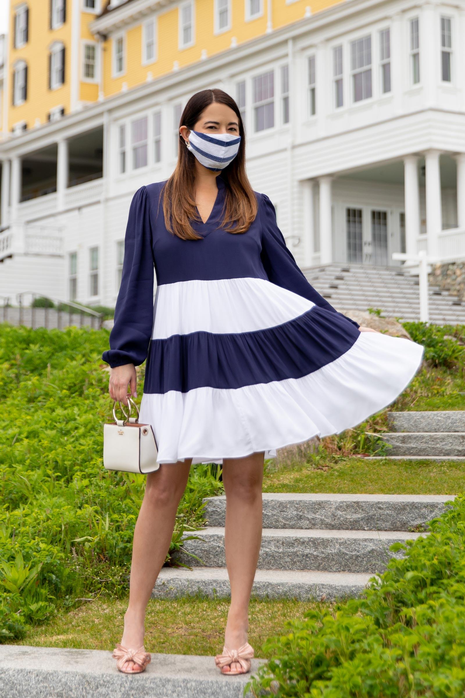 Sail to Sable Stripe Facemask
