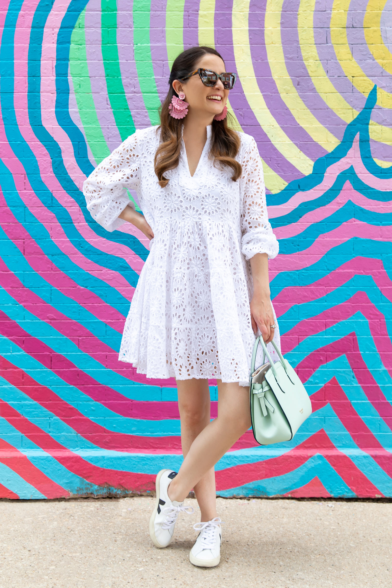 Jennifer Lake Charlotte White Eyelet Dress