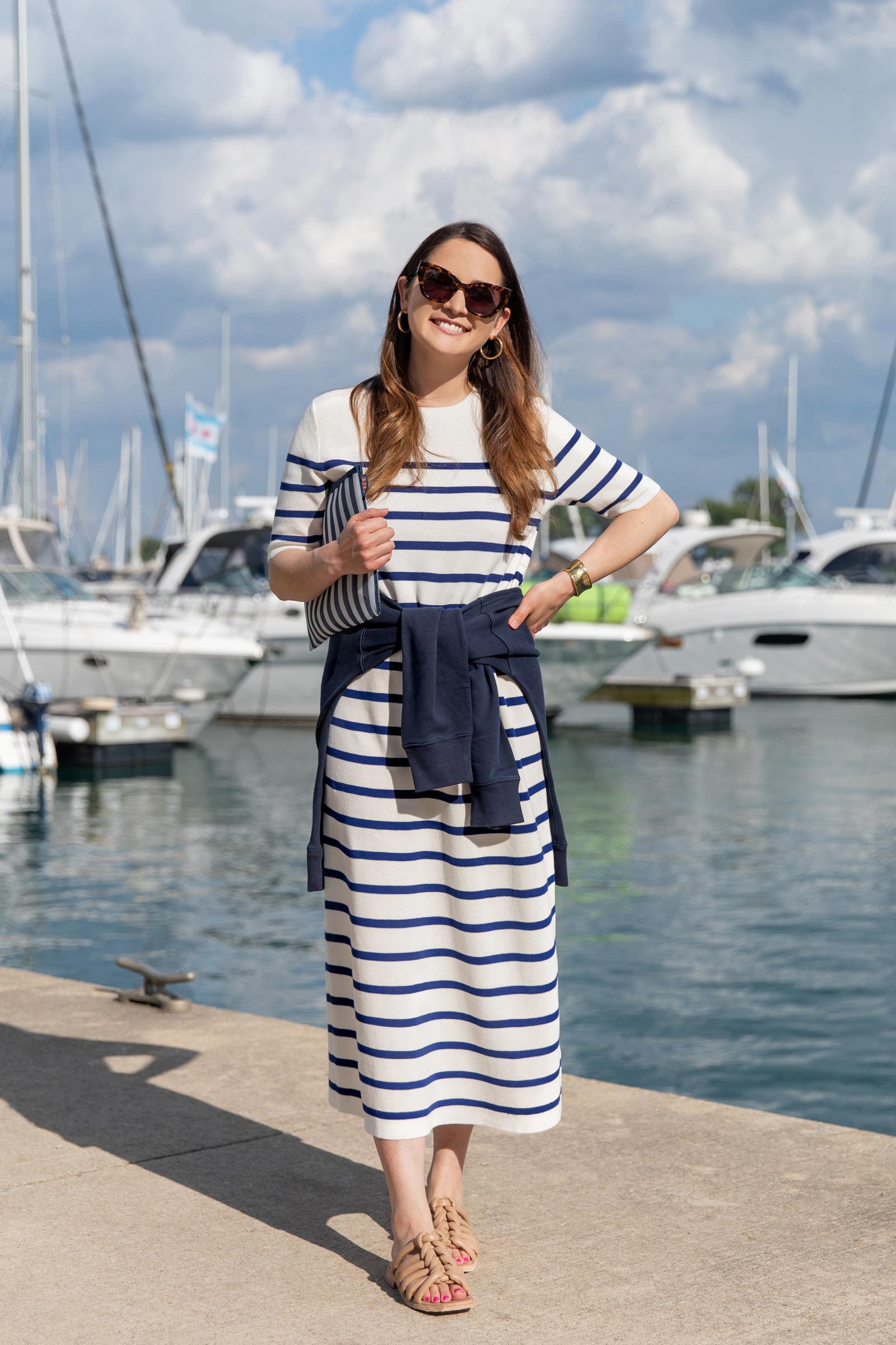 Jennifer Lake Stripe Sweater Dress