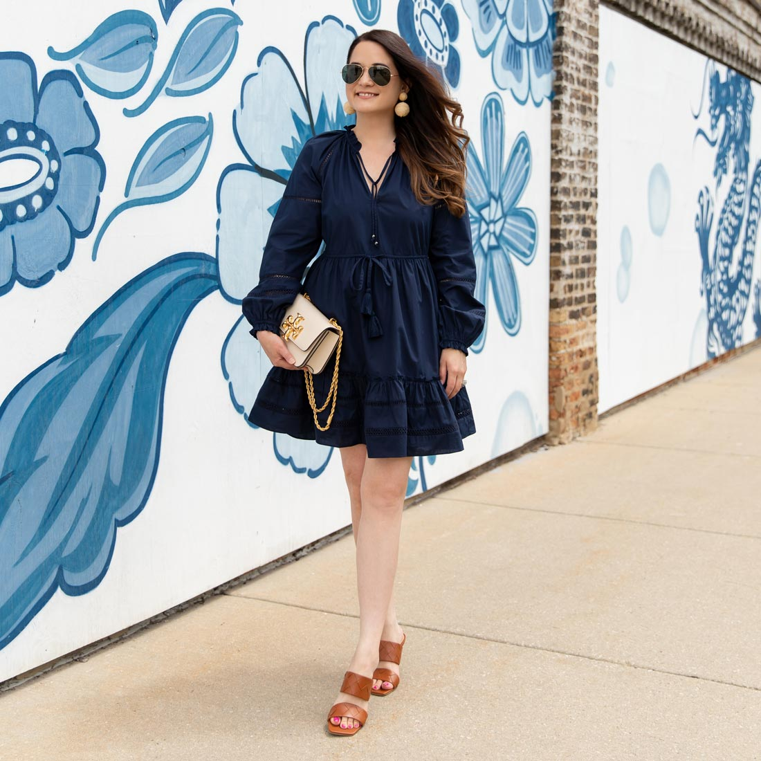 Blue Floral Wall Chicago