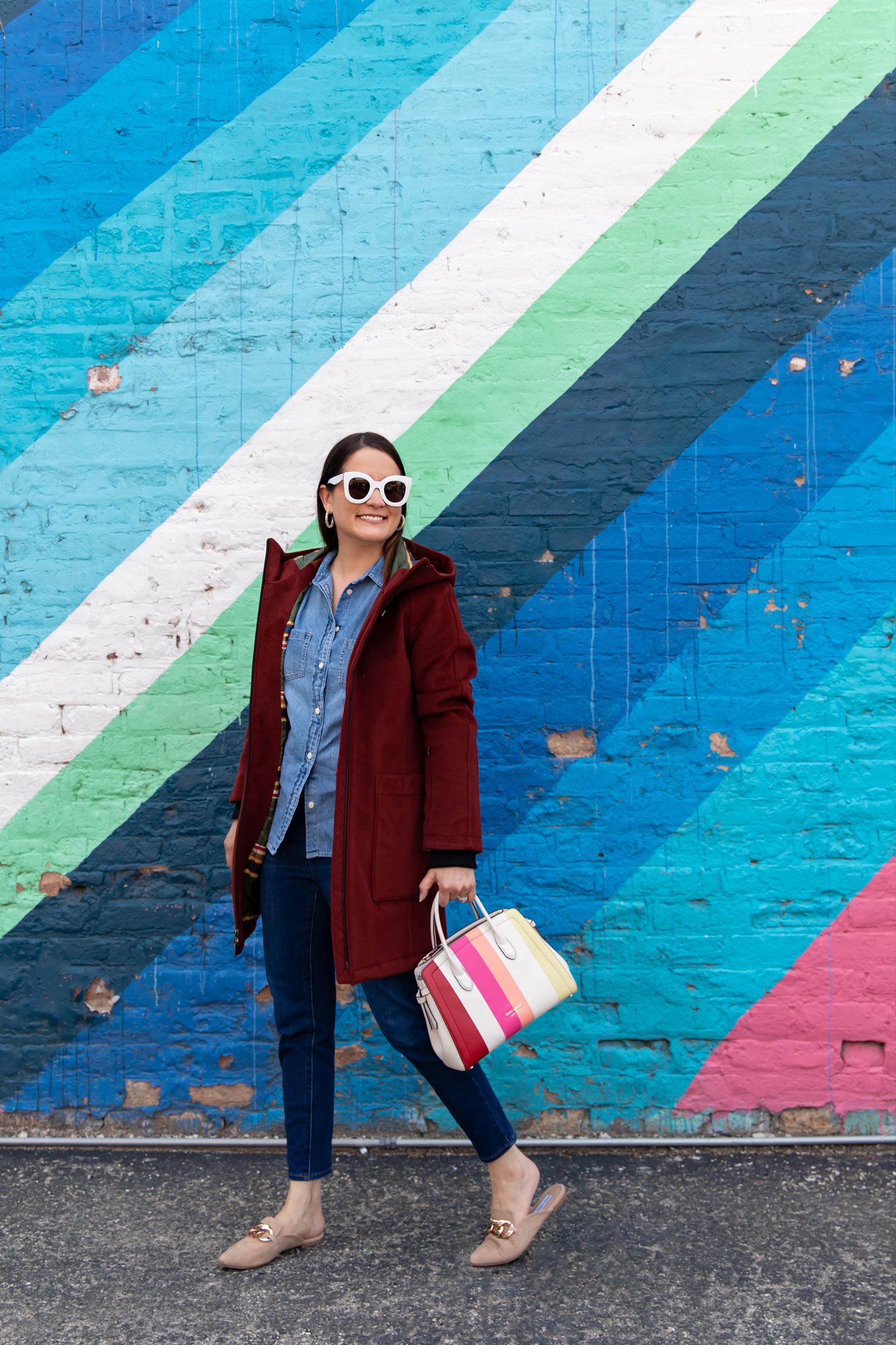 Chicago Multicolor Stripe Mural