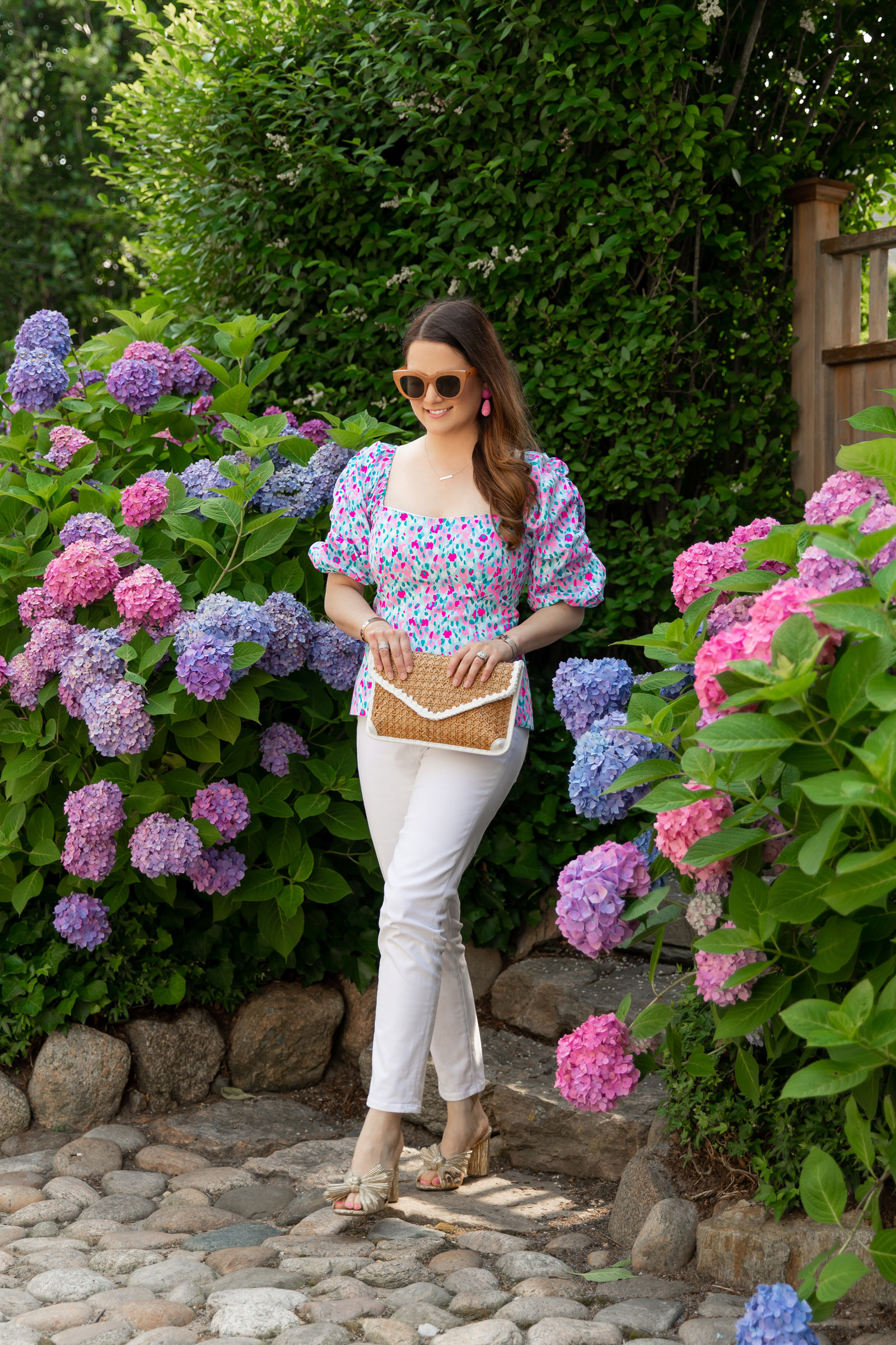Lilly Pulitzer Bitsy Puff Sleeve Top