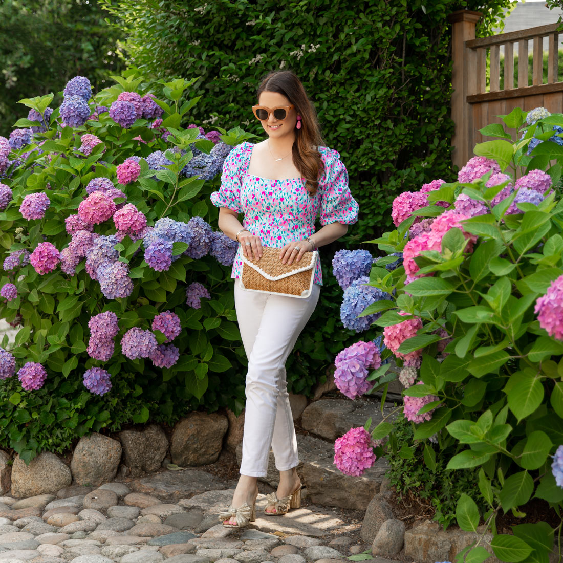 Lilly Pulitzer Printed Puff Sleeve Top