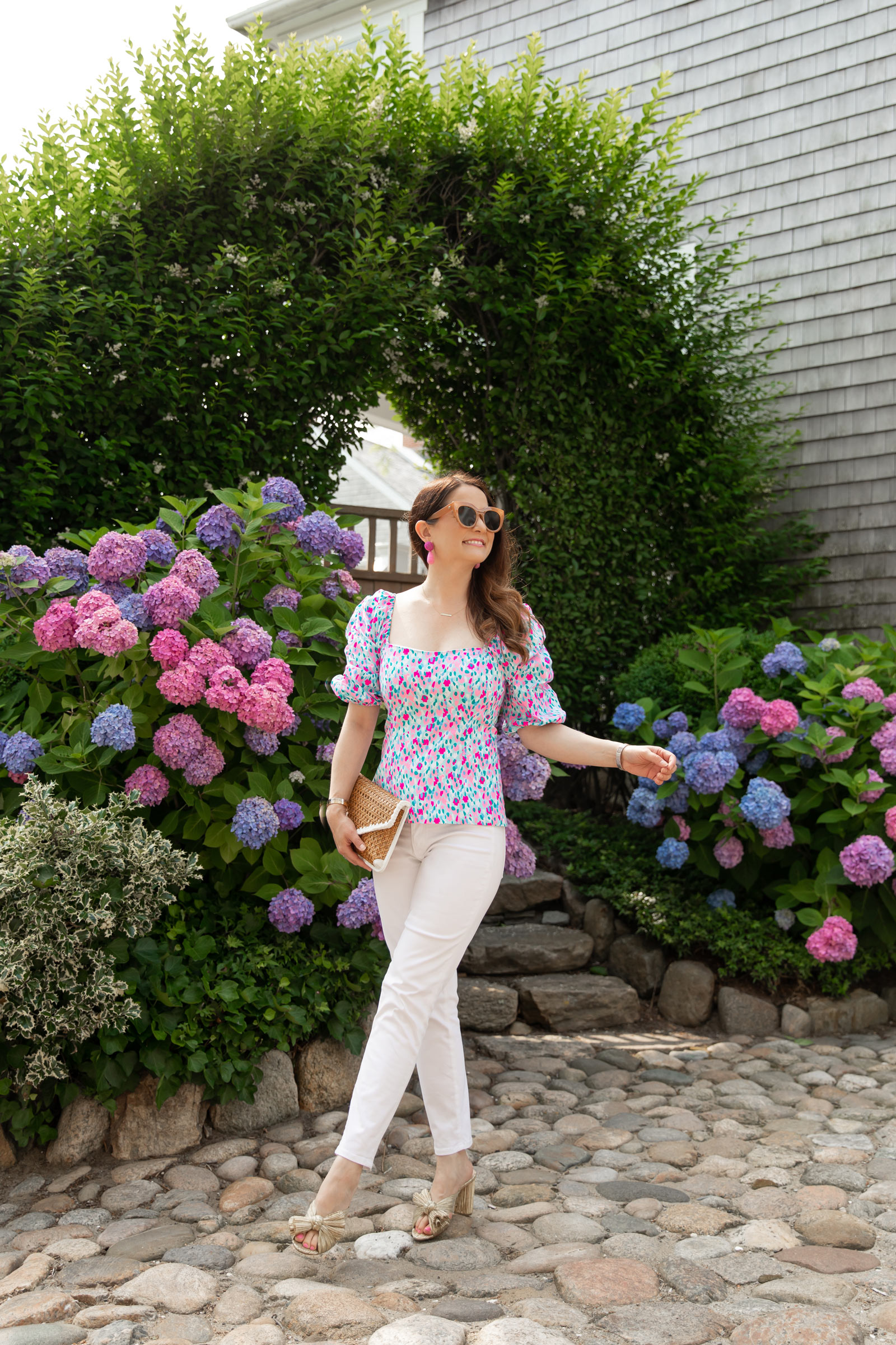 Lilly Pulitzer Puff Sleeve Printed Top