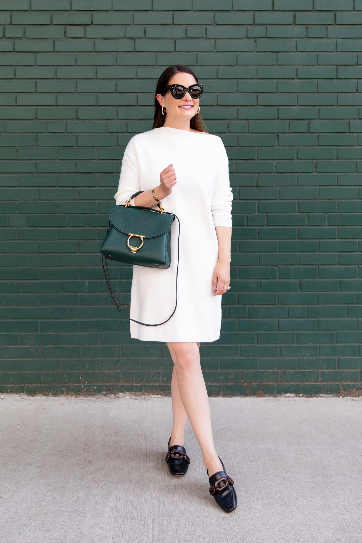 Treasure Bond White Sweater Dress