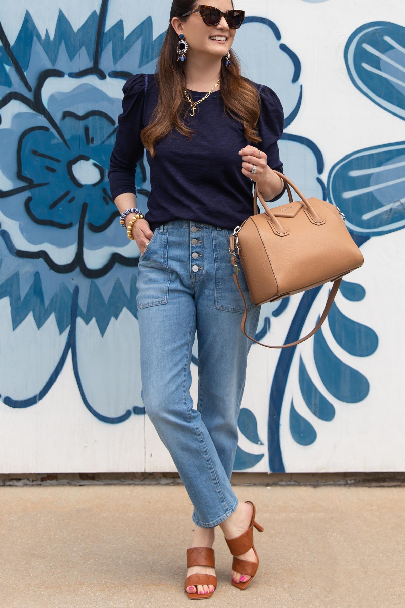 Veronica Beard Button Front Jeans