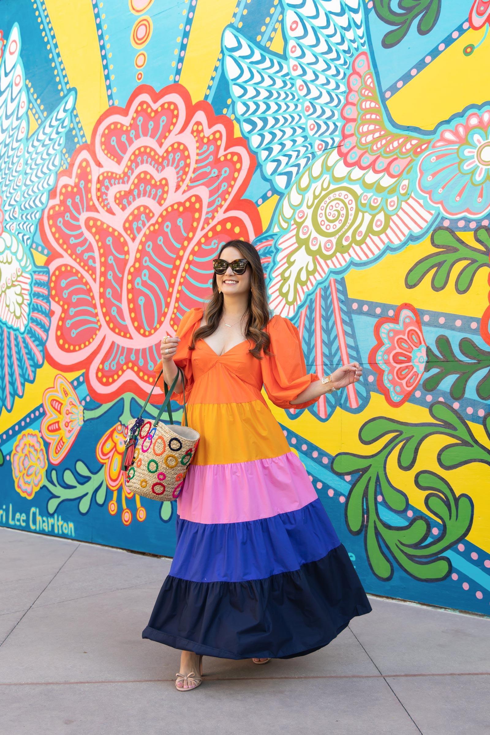 farm rio multicolor maxi dress