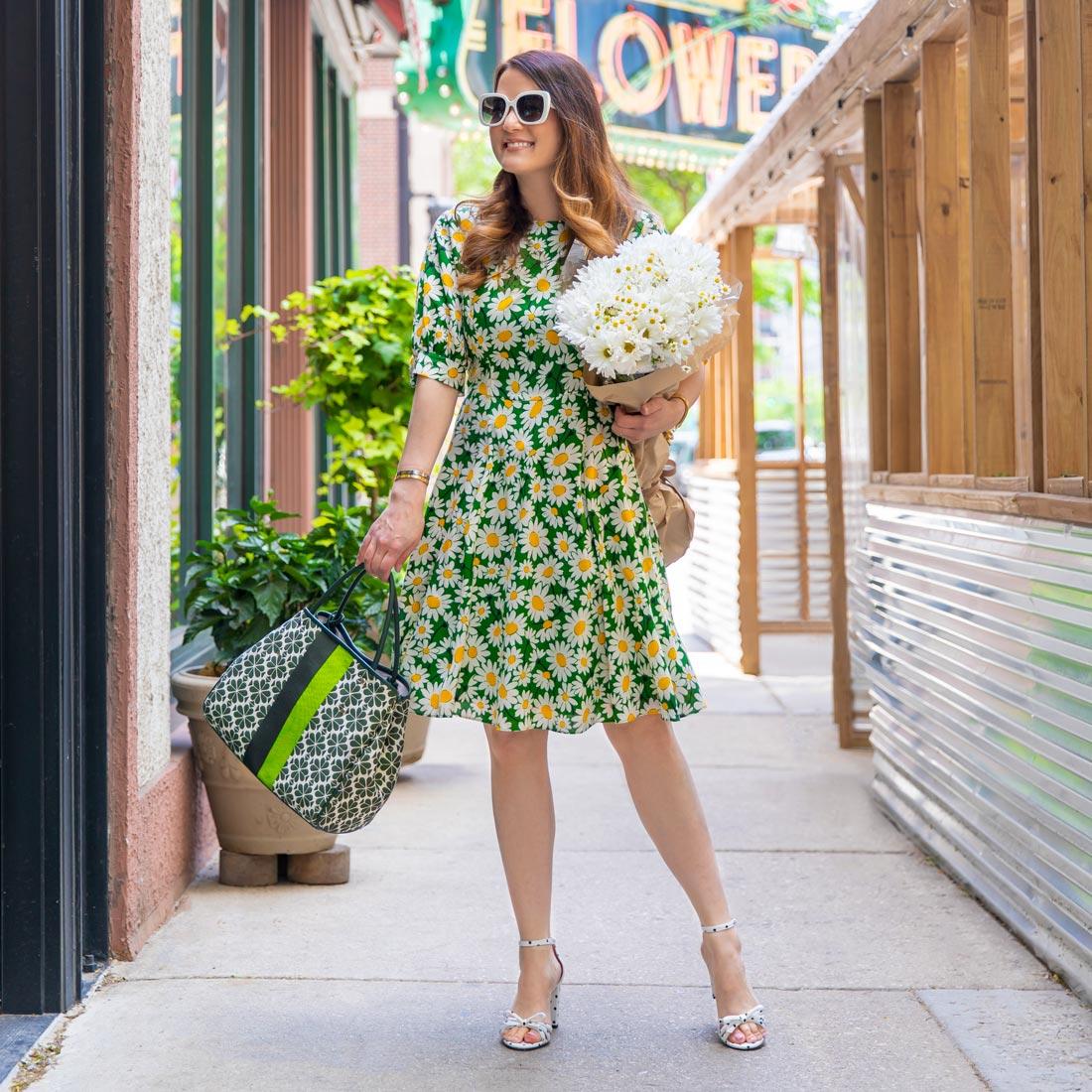 Jennifer Lake Kate Spade Floral Dress