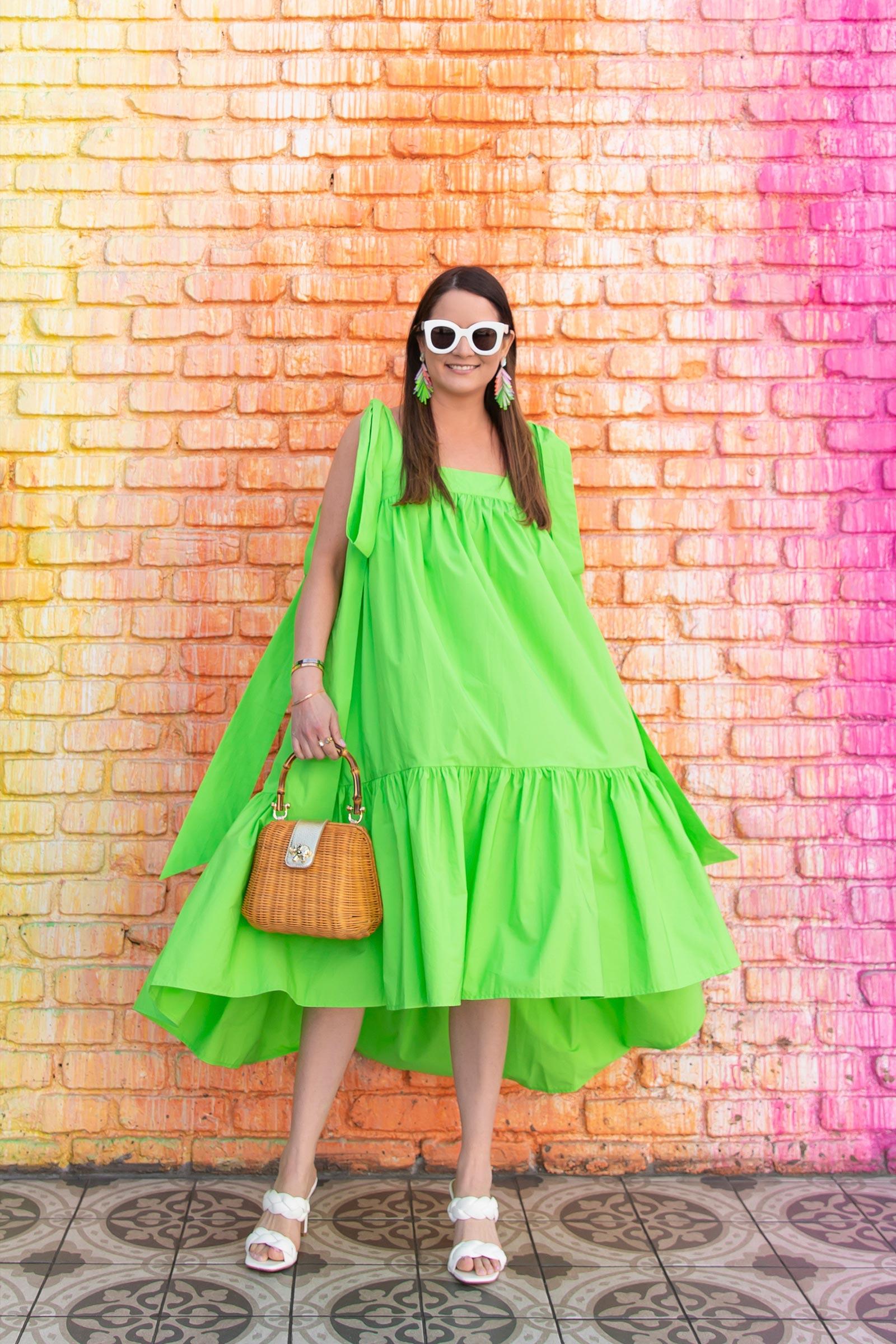 Lilly Pulitzer Bamboo Handle Bag