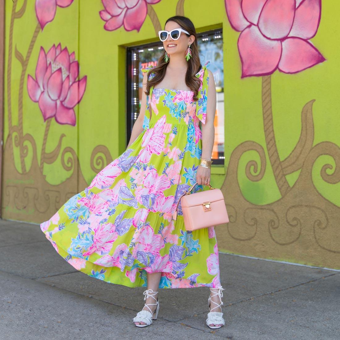 lilly pulitzer floral midi dress