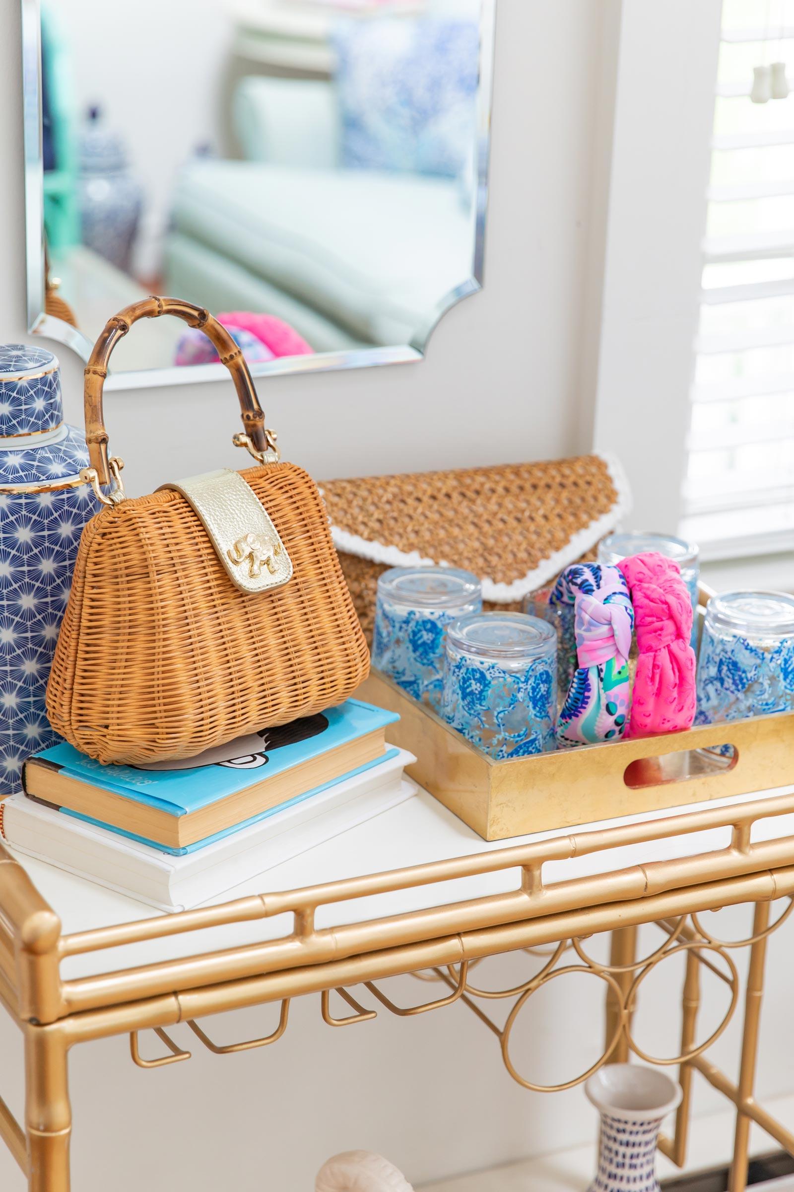 Lilly Pulitzer Perla Bamboo Handbag