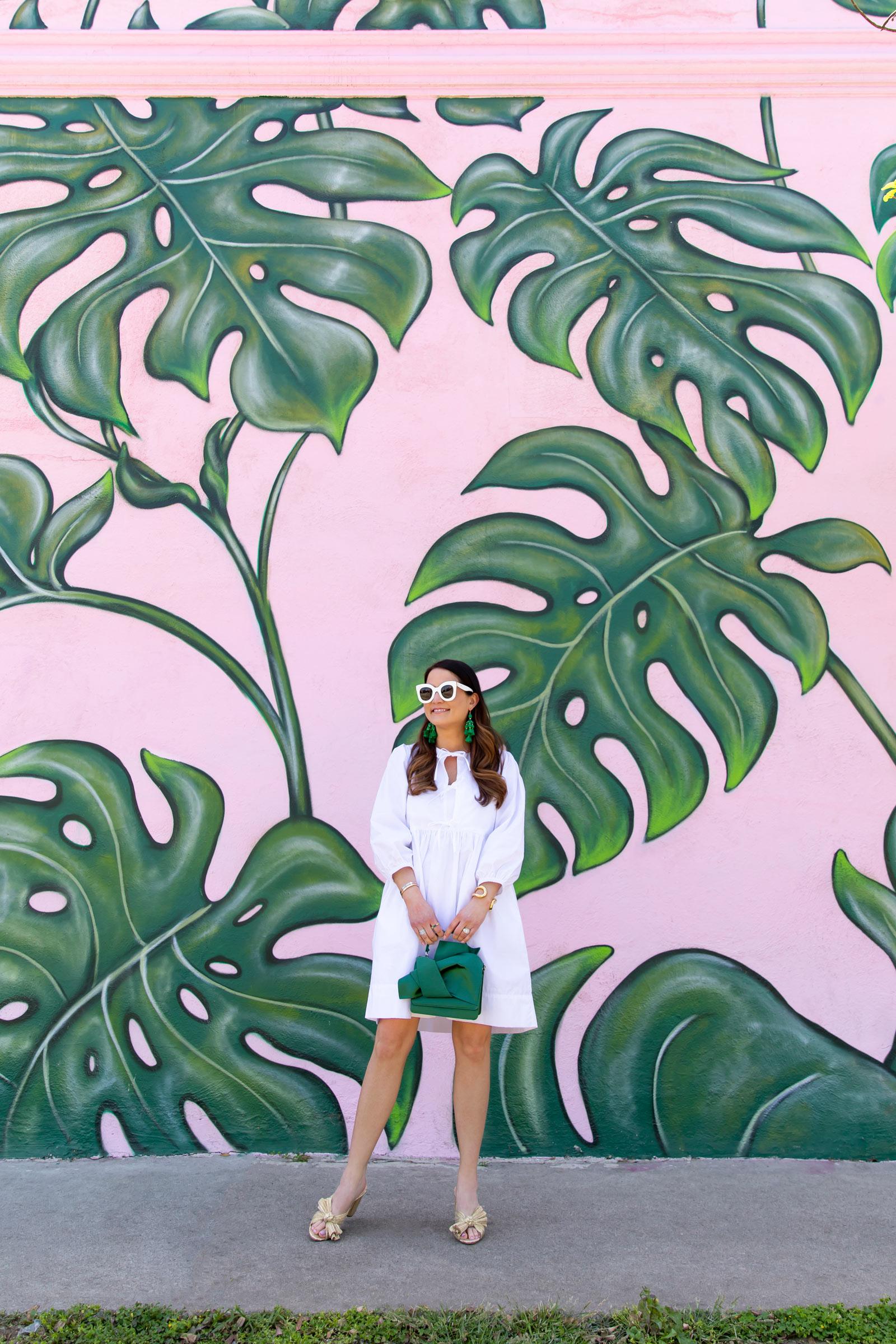 Palm Leaf Mural Los Angeles