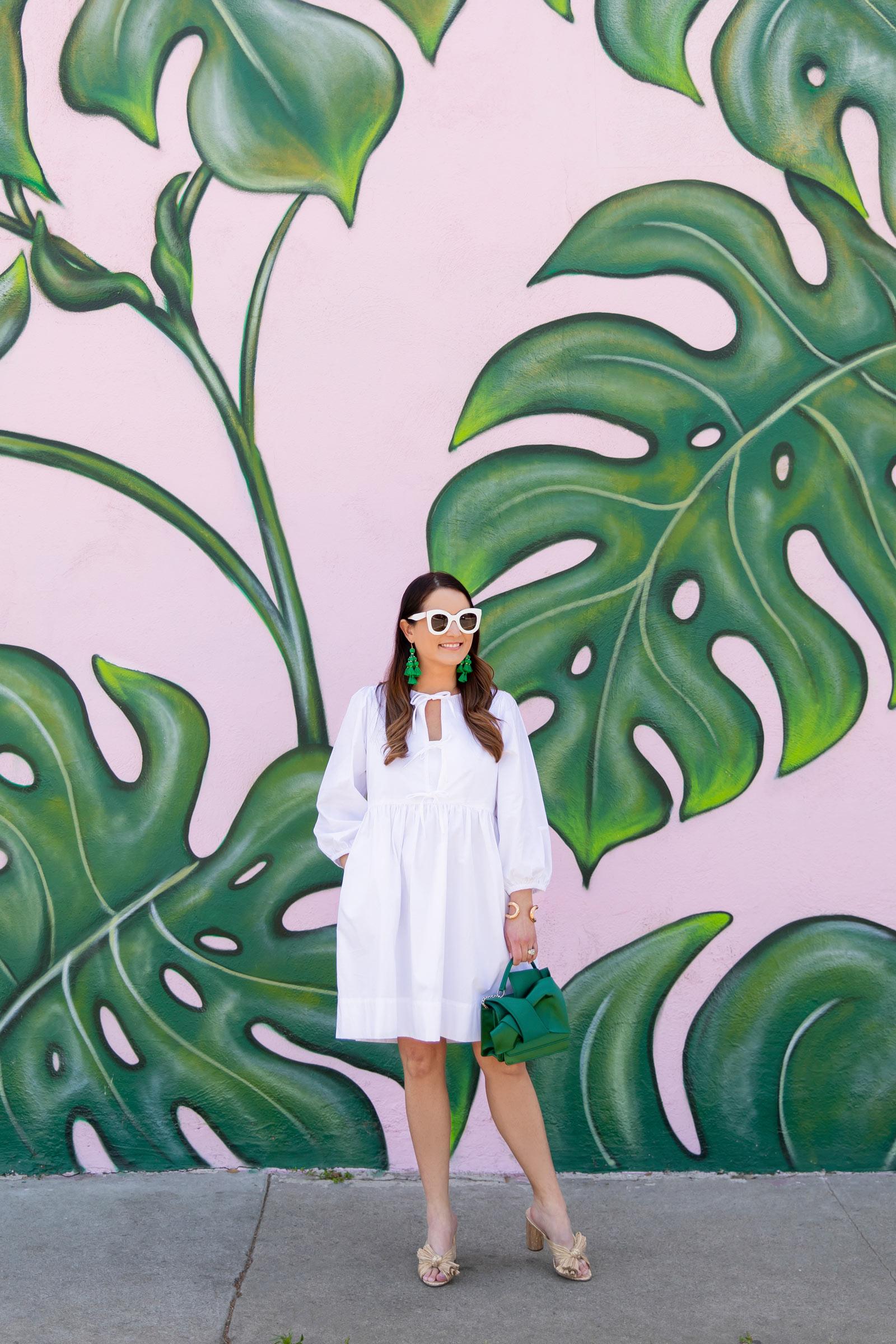 Palm Print Pink Mural Los Angeles