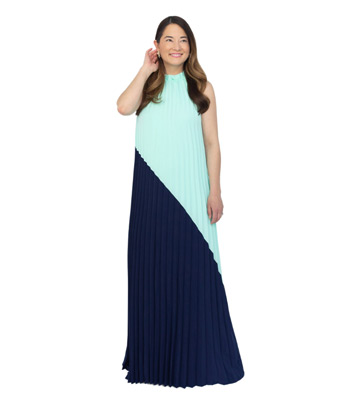 Sail to Sable Pleated Maxi
