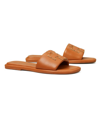Tory Burch Leather Slide Sandals