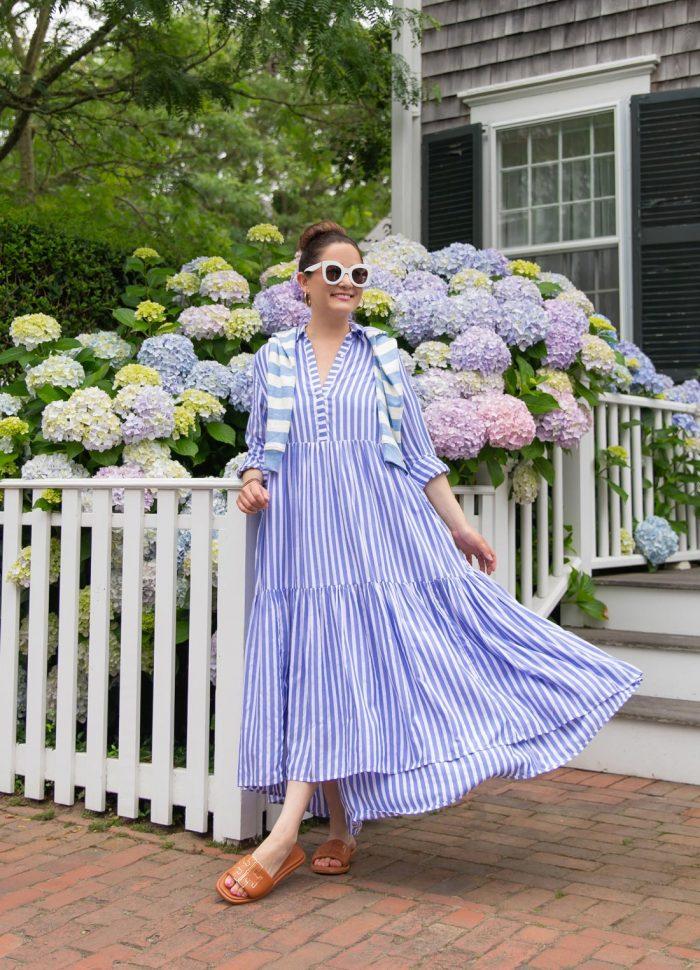 vineyard vines stripe dress