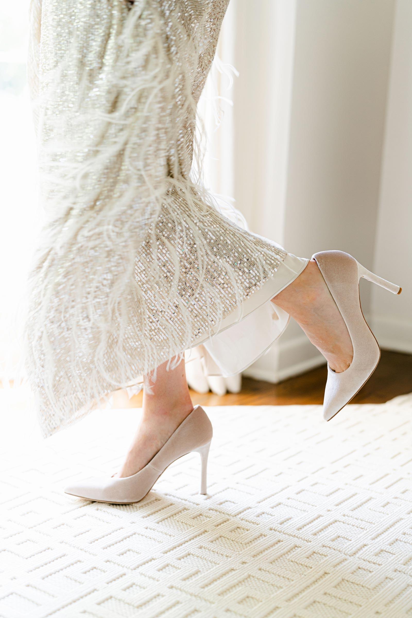 nicola bathie sequin feather dress