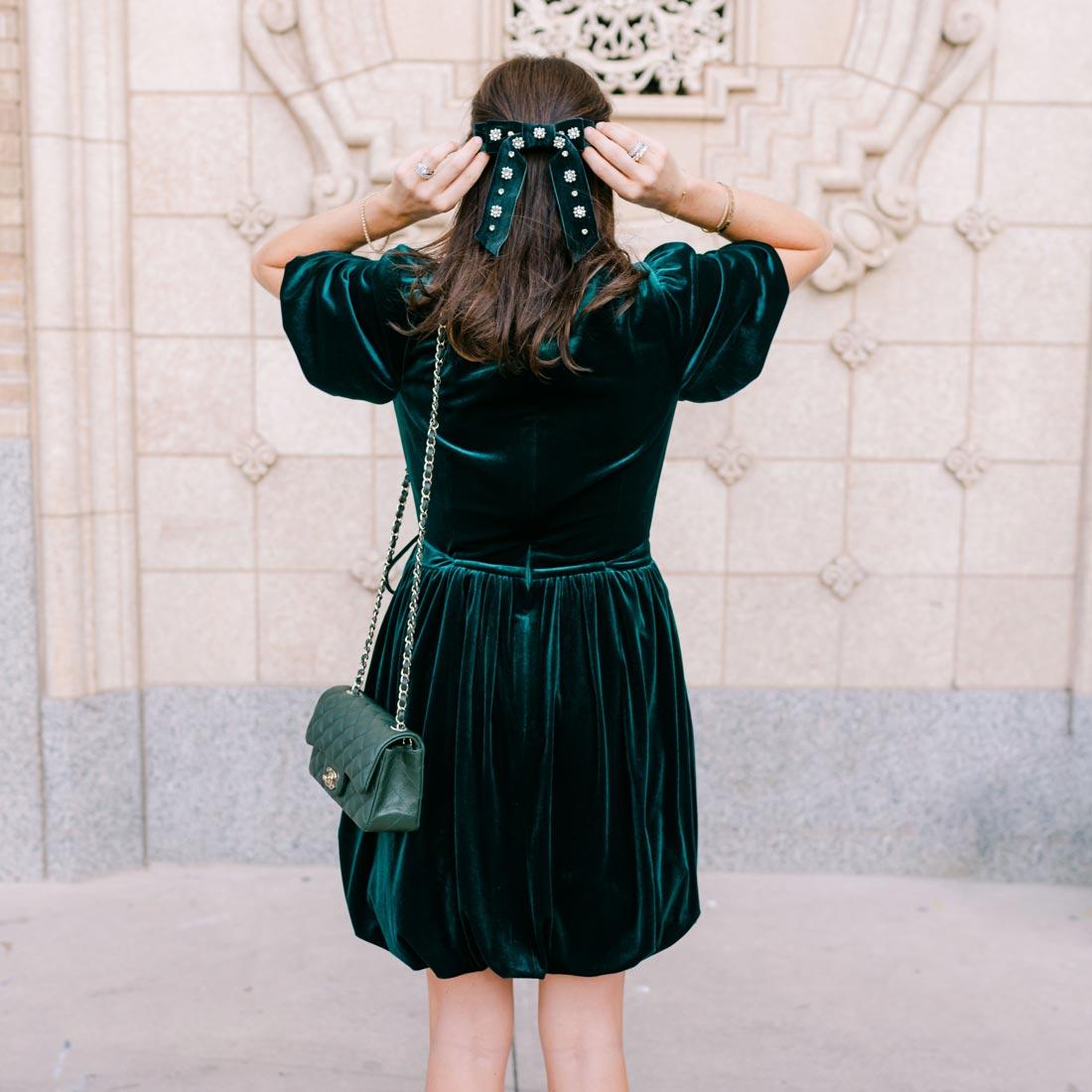 nicola bathie velvet dress