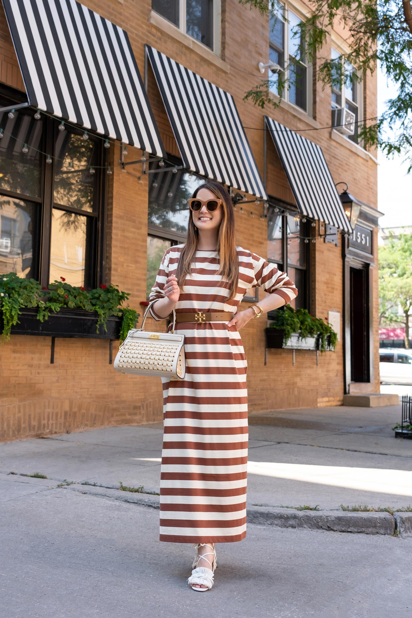 tory burch jersey stripe dress