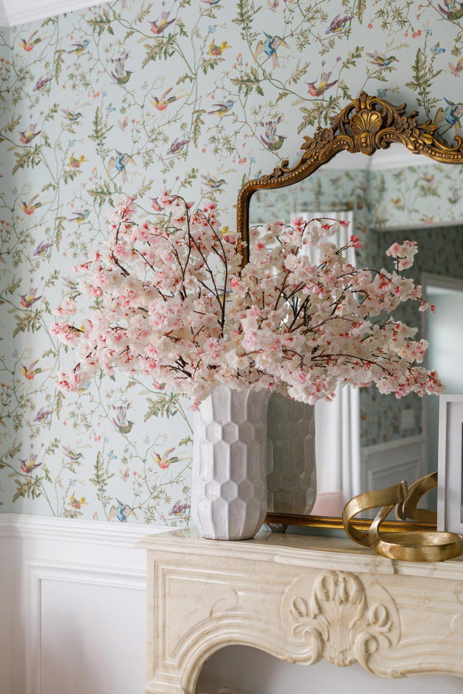 Ballard Designs Vase Cherry Blossoms