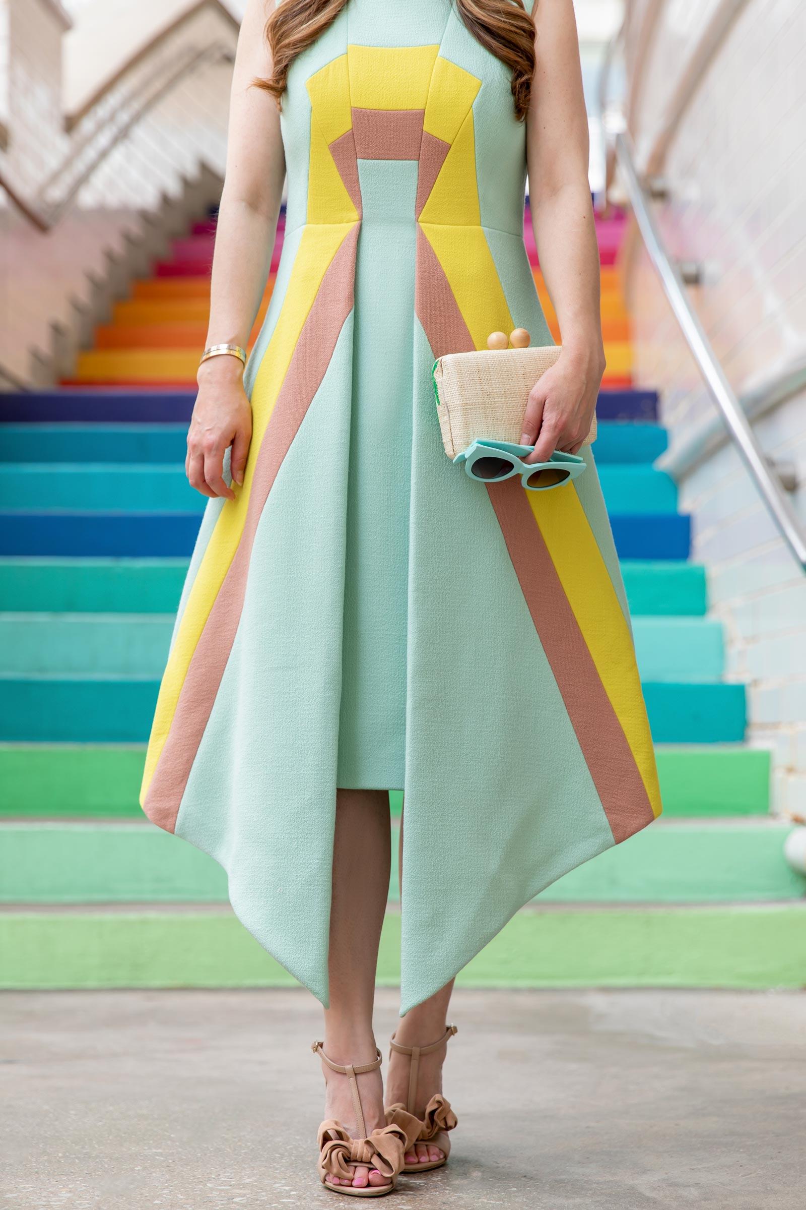 Jennifer Lake Delpozo Stripe Dress
