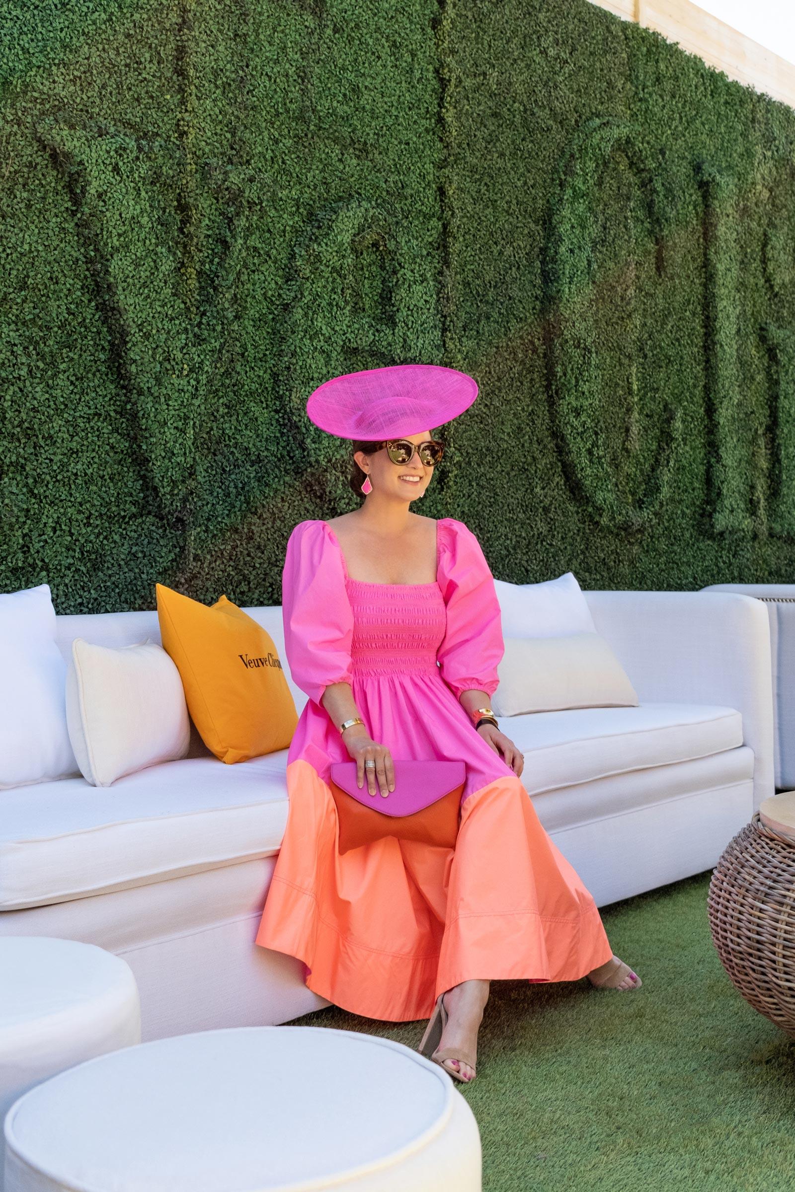 Jennifer Lake Pink Orange Dress