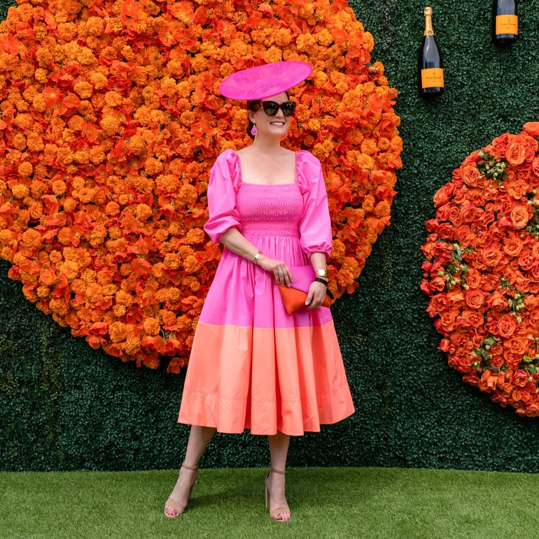 Tanya Taylor Pink Orange Dress